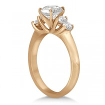 Five Stone Diamond Engagement Ring For Women 14k Rose Gold (0.40ct)
