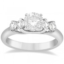 Five Stone Diamond Engagement Ring For Women Platinum (0.40ct)