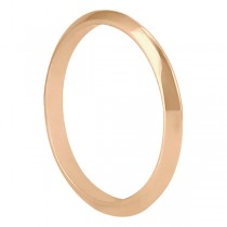 Women's Knife Edge Wedding Band in 18k Rose Gold (2.7 mm)