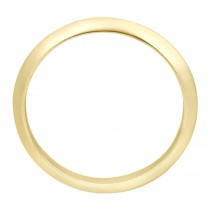 Knife Edge Wedding Ring Band in 18k Yellow Gold (2.7 mm)