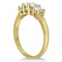Classic Four Stone Diamond Ring Wedding Band 14K Yellow Gold (0.60ct)