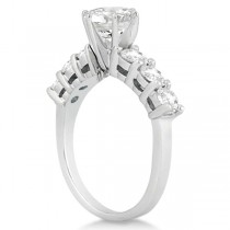 Seven-Stone Diamond Engagement Ring in 14k White Gold (0.30 ctw)