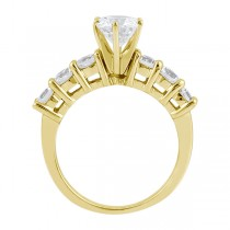 Seven-Stone Diamond Engagement Ring in 18k Yellow Gold (0.30 ctw)