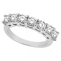 Semi-Eternity Diamond Wedding Band in 18k White Gold (0.35 ctw)