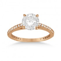 Petite Eternity Diamond Engagement Ring 14k Rose Gold (0.55ct)