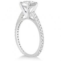 Petite Eternity Diamond Engagement Ring 18k White Gold (0.55ct)