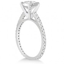 Petite Eternity Diamond Engagement Ring Platinum (0.55ct)