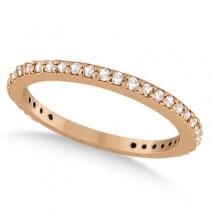 Eternity Diamond Engagement Ring & Band Set 14k Rose Gold (1.10ct)