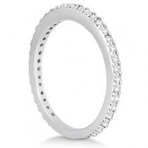 Eternity Diamond Engagement Ring & Band Set 18k White Gold (1.10ct)