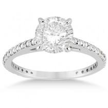 Eternity Diamond Engagement Ring & Band Set Palladium (1.10ct)