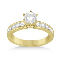 Channel Set Princess Diamond Engagement Ring 14k Yellow Gold (0.50ct)