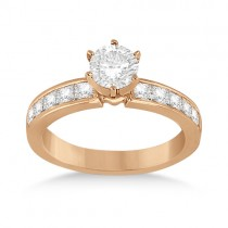 Channel Set Princess Diamond Engagement Ring 18k Rose Gold (0.50ct)