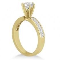 Channel Set Princess Diamond Engagement Ring 18k Yellow Gold (0.50ct)