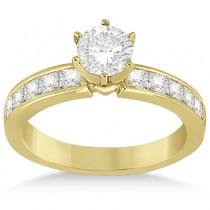 Princess Diamond Engagement Ring & Bridal Set 14k Yellow Gold (1.10ct)