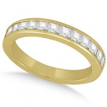 Channel Set Princess Diamond Wedding Band 18k Yellow Gold (0.60ct)