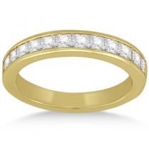 Channel Set Princess Diamond Wedding Band 18k Yellow Gold (0.60ct)