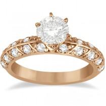 Designer Diamond Engagement Ring Setting 14k Rose Gold (0.70ct)