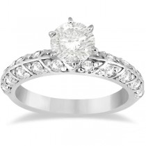 Designer Diamond Engagement Ring Setting 14k White Gold (0.70ct)