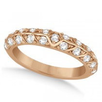 Unique Designer Diamond Wedding Ring in 14k Rose Gold (0.70ct)