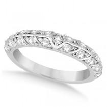 Unique Designer Diamond Wedding Ring in 14k White Gold (0.70ct)