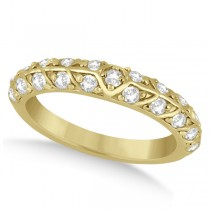 Unique Designer Diamond Wedding Ring in 14k Yellow Gold (0.70ct)