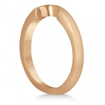 Heart Shaped Engagement Ring & Wedding Band Bridal Set 18k Rose Gold