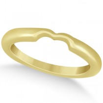 Matching Notched Wedding Band to Heart Shaped Ring in 18k Yellow Gold