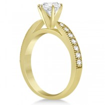 Cathedral Antique Style Engagement Ring 14k Yellow Gold (0.28ct)