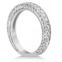 Vintage Style Filigree Diamond Wedding Band Palladium (0.19ct)