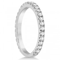 Round Diamond Eternity Wedding Ring 18K White Gold Diamond Band (0.58ct)|escape