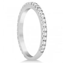 Halo Cushion Diamond Engagement Ring Bridal Set Palladium (1.07ct)