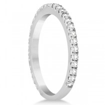 Diamond Eternity Wedding Band for Women 18K White Gold Ring (0.47ct)