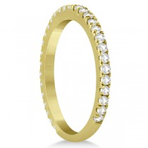 Diamond Eternity Wedding Band for Women 18K Yellow Gold Ring (0.47ct)