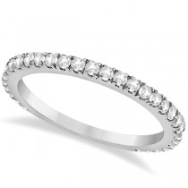Diamond Eternity Wedding Band for Women Palladium Ring (0.47ct)