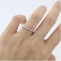 Diamond Eternity Wedding Band for Women Palladium Ring (0.47ct)