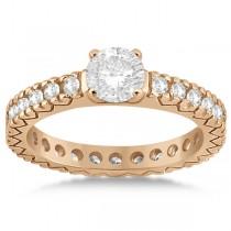 Eternity Diamond Engagement Ring Setting Womens 14K Rose Gold 0.40ct