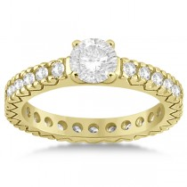 Eternity Diamond Engagement Ring Setting Womens 14K Yellow Gold 0.40ct