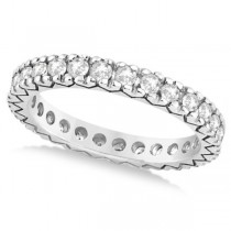 Women's Pave Set Diamond Eternity Wedding Band in Palladium 0.45ct