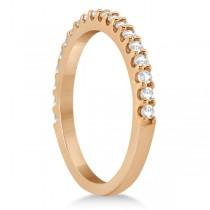 Halo Diamond Engagement Ring & Band Bridal Set 14K Rose Gold (1.12ct)