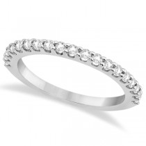 Diamond Semi Eternity Wedding Band Pave Set Palladium (0.38ct)