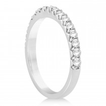 Diamond Accented Wedding Band Platinum 0.48ct