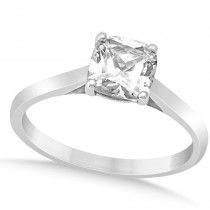 Diamond Solitaire Cushion Cut Bridal Set 14k White Gold (1.00ct)|escape