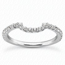 Custom-Made Diamond Contour Wedding Band (0.32ct)