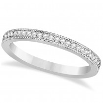 Diamond Accented Wedding Band 14k White Gold (0.18ct)