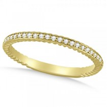 Diamond Twisted Wedding Band in 14k Yellow Gold (0.12ct)
