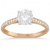 Diamond Rope Engagement Ring Setting 14k Two Tone Gold (0.20ct)