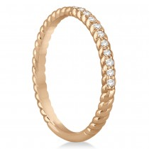 Diamond Rope Style Wedding Band 14k Rose Gold (0.21ct)