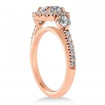 Diamond Fancy Halo Engagement Ring 14k Rose Gold (0.68ct)