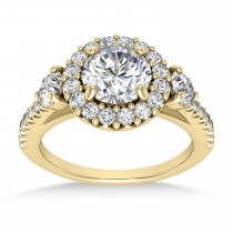 Diamond Fancy Halo Engagement Ring 18k Yellow Gold (0.68ct)