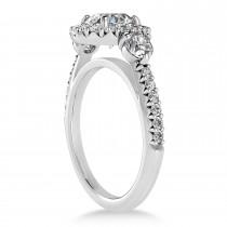 Diamond Fancy Halo Engagement Ring Platinum (0.68ct)